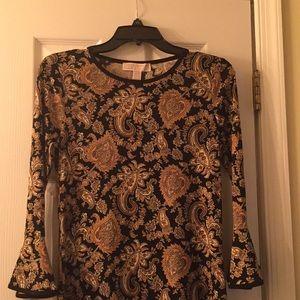 michael michael kors black & marigold shift dress